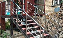 Ограждение для входной лестницы в магазин